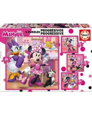 Puzzle Educa - Minnie Happy Helpers, 12/16/20/25 piese (17630)