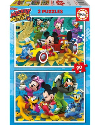 Puzzle Educa - Mickey and the Roadster Racers, 2x20 piese (17631)