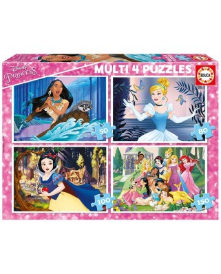 Puzzle Educa - Disney Princess, 50/80/100/150 piese (17637)