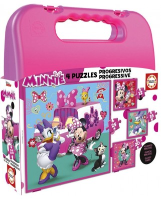 Puzzle Educa - Minnie Happy Helpers Case, 12/16/20/25 piese (17638)