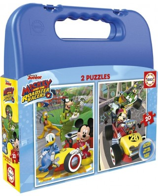 Puzzle Educa - Mickey and the Roadster Racers Case, 2x20 piese (17639)