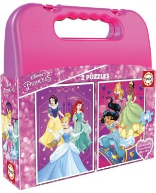 Puzzle Educa - Disney Princess Case, 2x48 piese (17640)