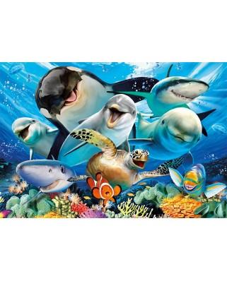 Puzzle Educa - Underwater selfies, 500 piese, include lipici puzzle (17647)