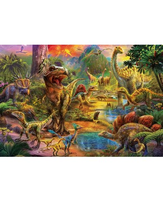 Puzzle Educa - Land of dinosaurs, 1000 piese, include lipici puzzle (17655)