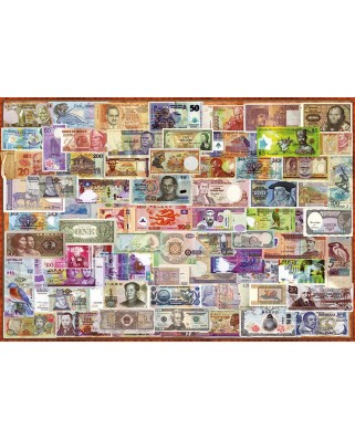 Puzzle Educa - World banknotes, 1000 piese, include lipici puzzle (17659)