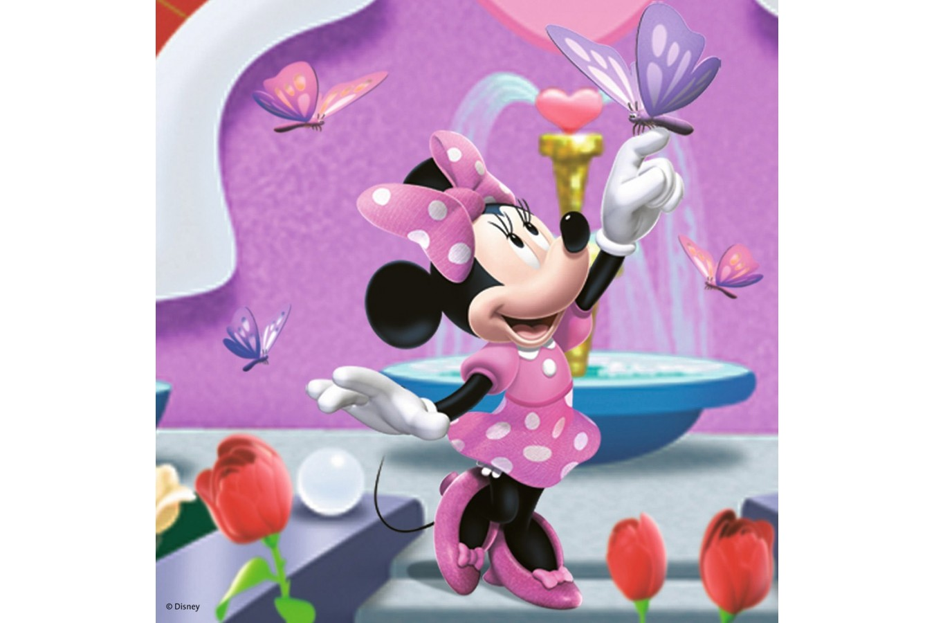 Puzzle Ravensburger - Minnie Mouse In Parc, 3x49 piese (09338)