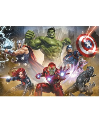 Puzzle Educa - The Avengers, 1000 piese, include lipici puzzle (17694)