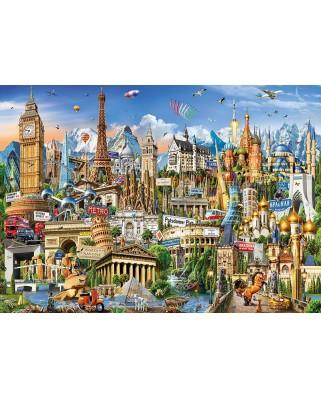 Puzzle Educa - Europe Landmarks, 2000 piese, include lipici puzzle (17697)