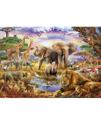 Puzzle Educa - Watering hole under the rainbow, 3000 piese (17698)