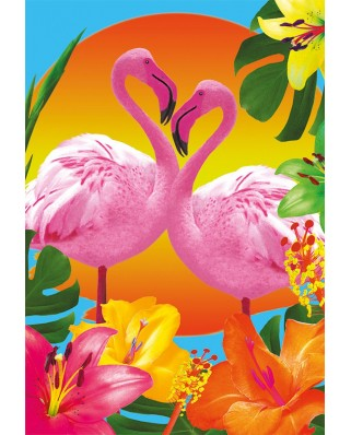 Puzzle Educa - Flamingos, 500 piese, include lipici puzzle (17737)
