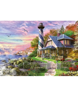 Puzzle Educa - Lighthouse at Rock Bay, 1000 piese, include lipici puzzle (17740)