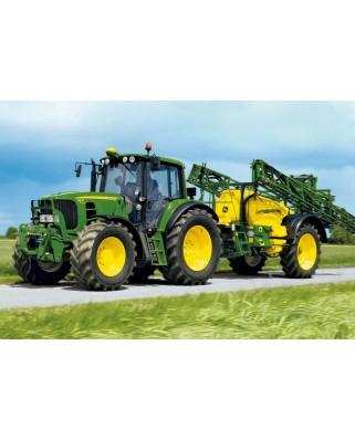 Puzzle Schmidt - Tractor 6630 irigator, 40 piese, include 1 tractor Siku (55625)