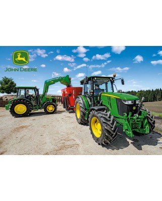 Puzzle Schmidt - Tractor seria 5M, 150 piese, include 1 tractor Siku (56045)