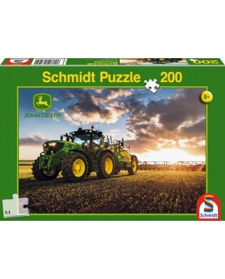 Puzzle Schmidt - Tractor 6150R cu udator, 200 piese (56145)