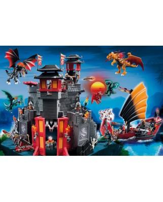 Puzzle Schmidt - Asia, tinutul dragonilor, 100 piese, include 1 figurina Playmobil (56074)
