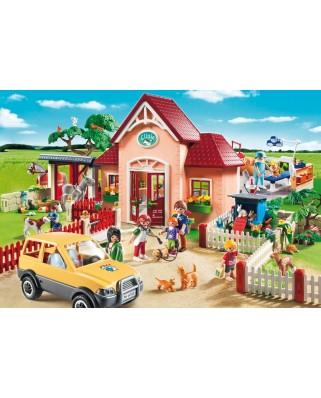 Puzzle Schmidt - La veterinar, 100 piese, include 1 figurina Playmobil (56091)