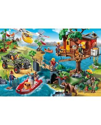Puzzle Schmidt - Casuta din copac, 150 piese, include 1 figurina Playmobil (56164)