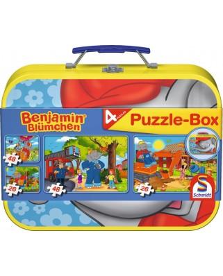 Puzzle Schmidt - Benjamin, elefantul, 2x26 + 2x48 piese, cutie metalica (55594)