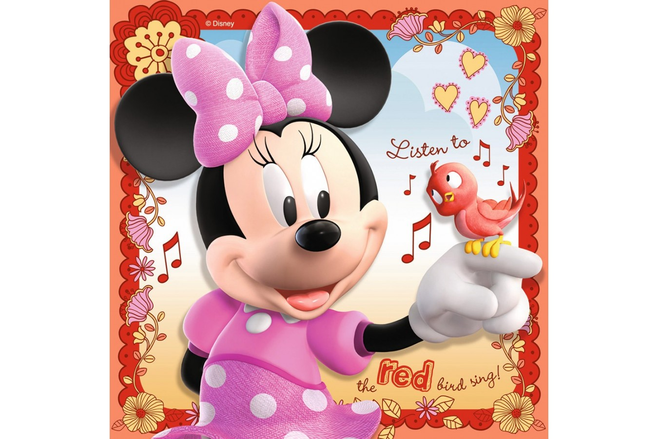Puzzle Ravensburger - Minnie Mouse, 25/36/49 piese (07244)