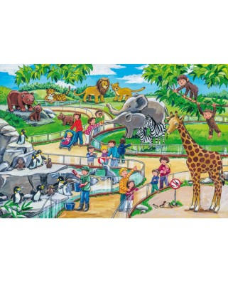 Puzzle Schmidt - O zi la Gradina zoologica, 3x24 piese, include 1 poster (56218)