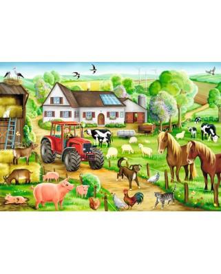 Puzzle Schmidt - O ferma vesela, 100 piese (56003)