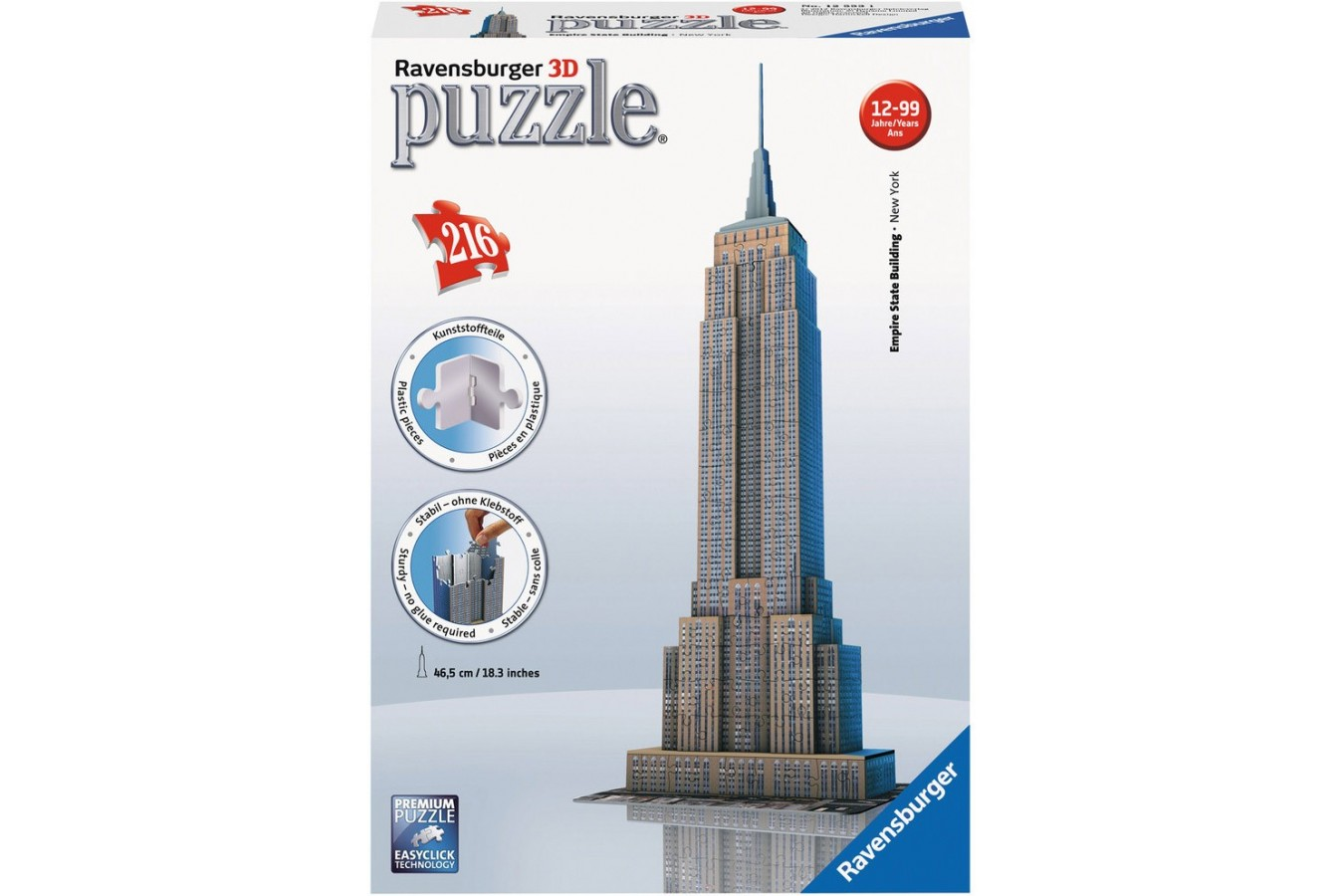 Puzzle 3D Ravensburger - Empire State Building, 216 piese (12553)