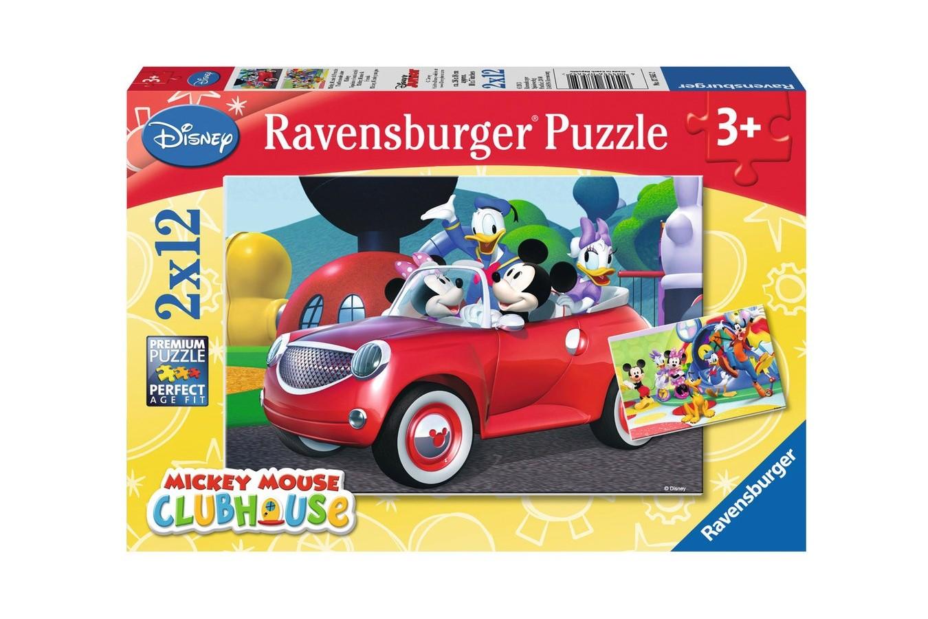 Puzzle Ravensburger - Minnie, 2x12 piese (07565)