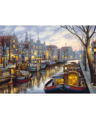 Puzzle Schmidt - Evgeny Lushpin: De-a lungul canalului, 1.000 piese (59561)