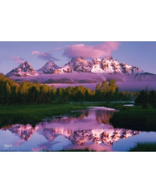 Puzzle Schmidt - Rodney Lough: Zi de vis - Parcul National Grand Teton, Wyoming, 1.000 piese (59386)