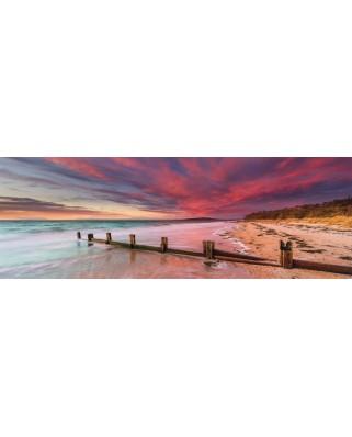 Puzzle panoramic Schmidt - Plaja McCrae, Mornington Peninsula, Victoria, Australia, 1.000 piese (59395)