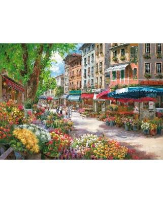Puzzle Schmidt - Sam Park: Piata de flori din Paris, 1.000 piese (58561)