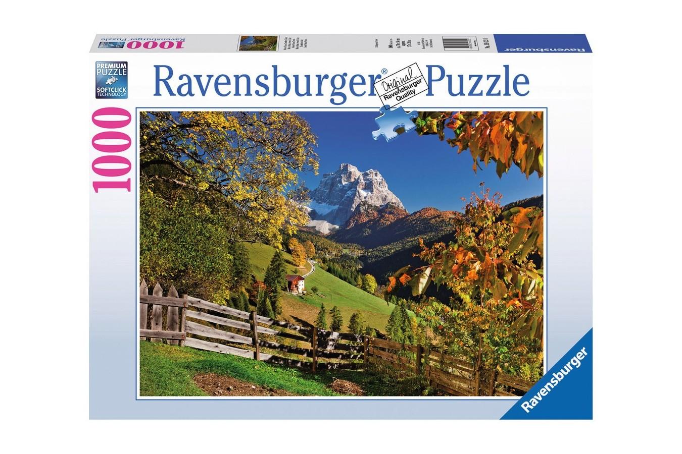 Puzzle Ravensburger - Monte Pelmo, 1.000 piese (19423)