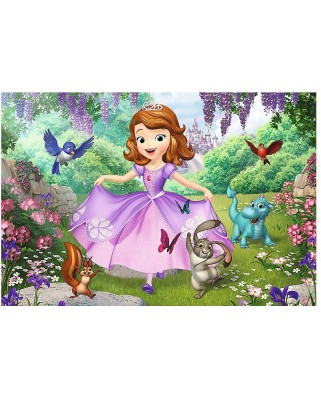 Puzzle de colorat Trefl - Color Puzzle - Sofia the First, 20 piese (55033)