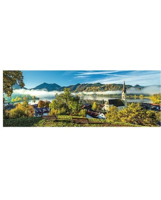 Puzzle panoramic Trefl - By the Schliersee lake, 1.000 piese (55042)