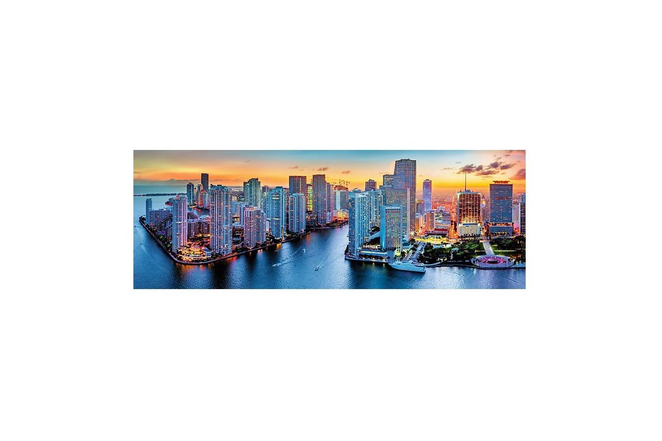 Puzzle panoramic Trefl - Miami by Night, 1.000 piese (53203)
