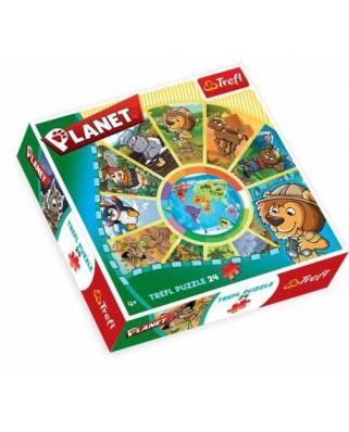 Puzzle rotund Trefl - Planet, 24 piese (11360)