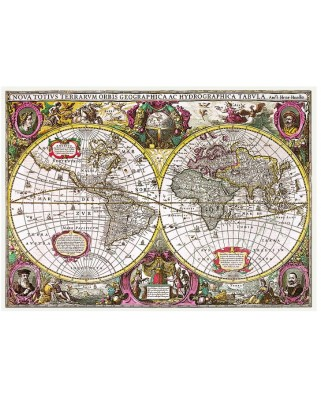 Puzzle Trefl - A New Land and Water Map of the Entire Earth, 1630, 2.000 piese (64867)