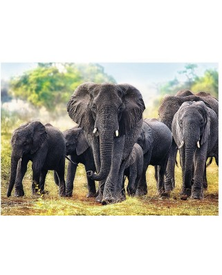 Puzzle Trefl - African Elephants, 1.000 piese (58123)