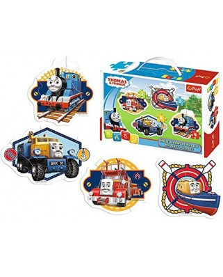 Puzzle Trefl - Baby - Thomas and Friends, 2/3/4/5 piese (58954)