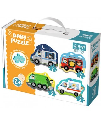 Puzzle Trefl - Baby Puzzles, 3/4/5/6 piese (64894)