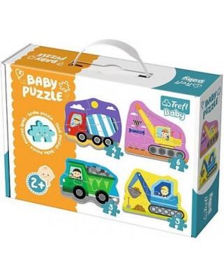 Puzzle Trefl - Baby Puzzles, 3/4/5/6 piese (64895)
