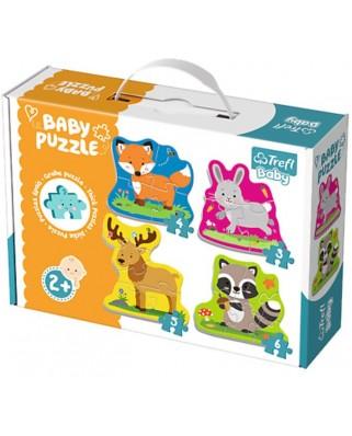 Puzzle Trefl - Baby Puzzles, 3/4/5/6 piese (64900)