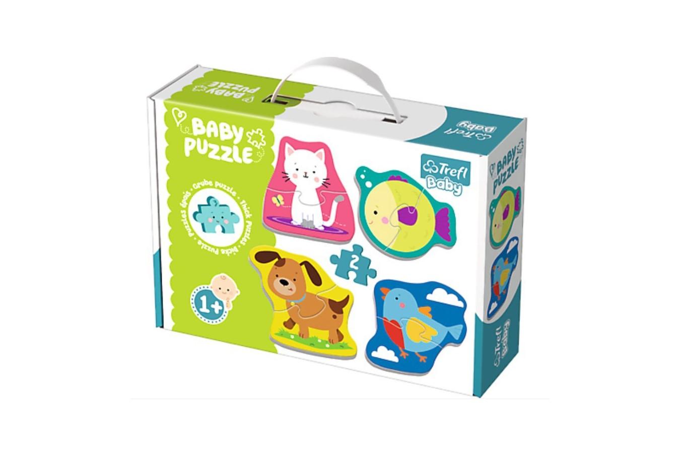 Puzzle Trefl - Baby Puzzles, 4x2 piese (64897)