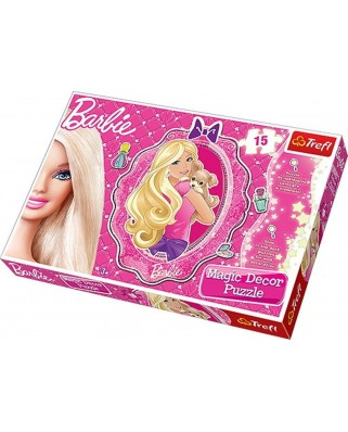 Puzzle Trefl - Barbie Puzzle Magic Decor, 15 piese (45855)