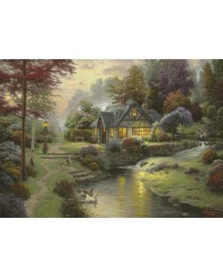 Puzzle Schmidt - Thomas Kinkade: Conac la malul lacului, 1.000 piese (58464)