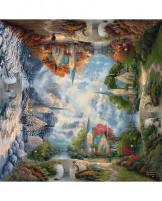 Puzzle Schmidt - Thomas Kinkade: Capela de la munte, 1.000 piese (59295)