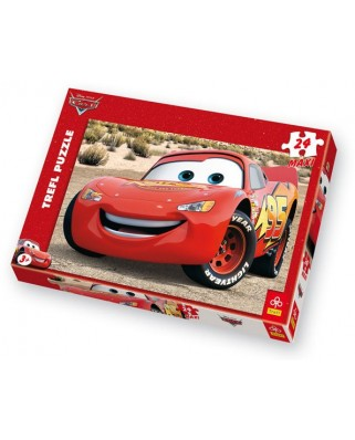 Puzzle Trefl - Cars : Flash Mc Queen, 24 piese XXL (3883)