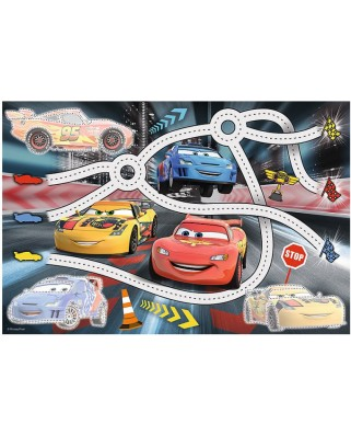 Puzzle Trefl - Cars + Magic Marker, 70 piese (64807)