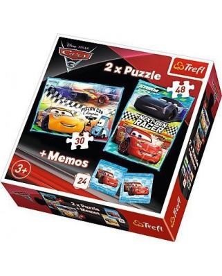 Puzzle Trefl - Cars + Memo, 30/48 piese (64905)