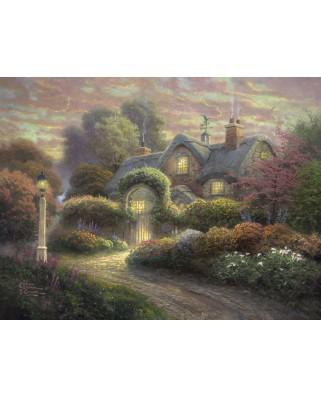 Puzzle Schmidt - Thomas Kinkade: Casuta cu trandafiri, 1.000 piese (59466)